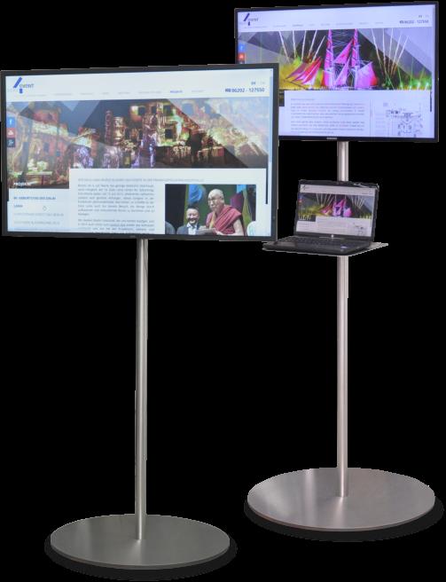DesignStands Mieten Sie Videotechnik Konferenztechnik Awesome Multimedia Display Stands